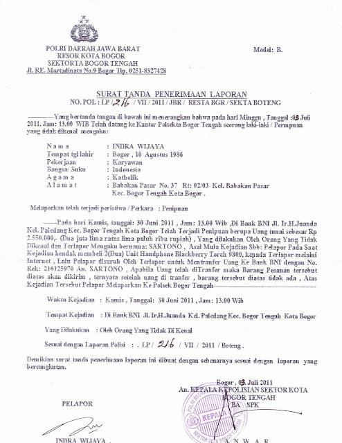 18 Info Download Surat Laporan Kepolisian Pencurian Pdf Doc Zip