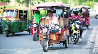 In India, e-rickshaw enhanced electric vehicles