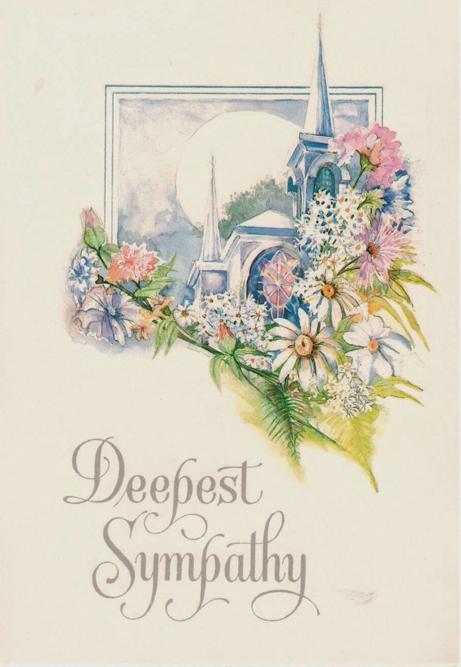 Sympathy Card from Phyllis and Donald Carruthers 1990 http://jollettetc.blogspot.com