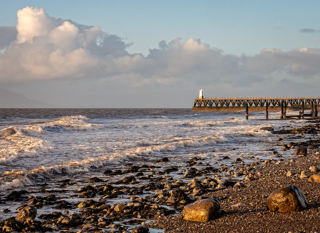 Photo of Maryport pier on a sunny day