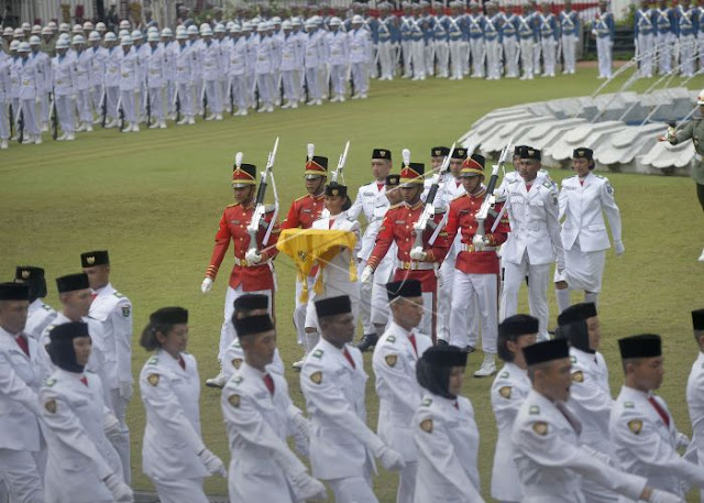 Gladi bersih upacara HUT kemerdekaan