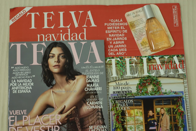 Revista Telva con regalos