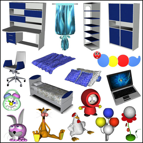 My Sims 3 Blog: Marvel Children's Bedroom Set By Dada