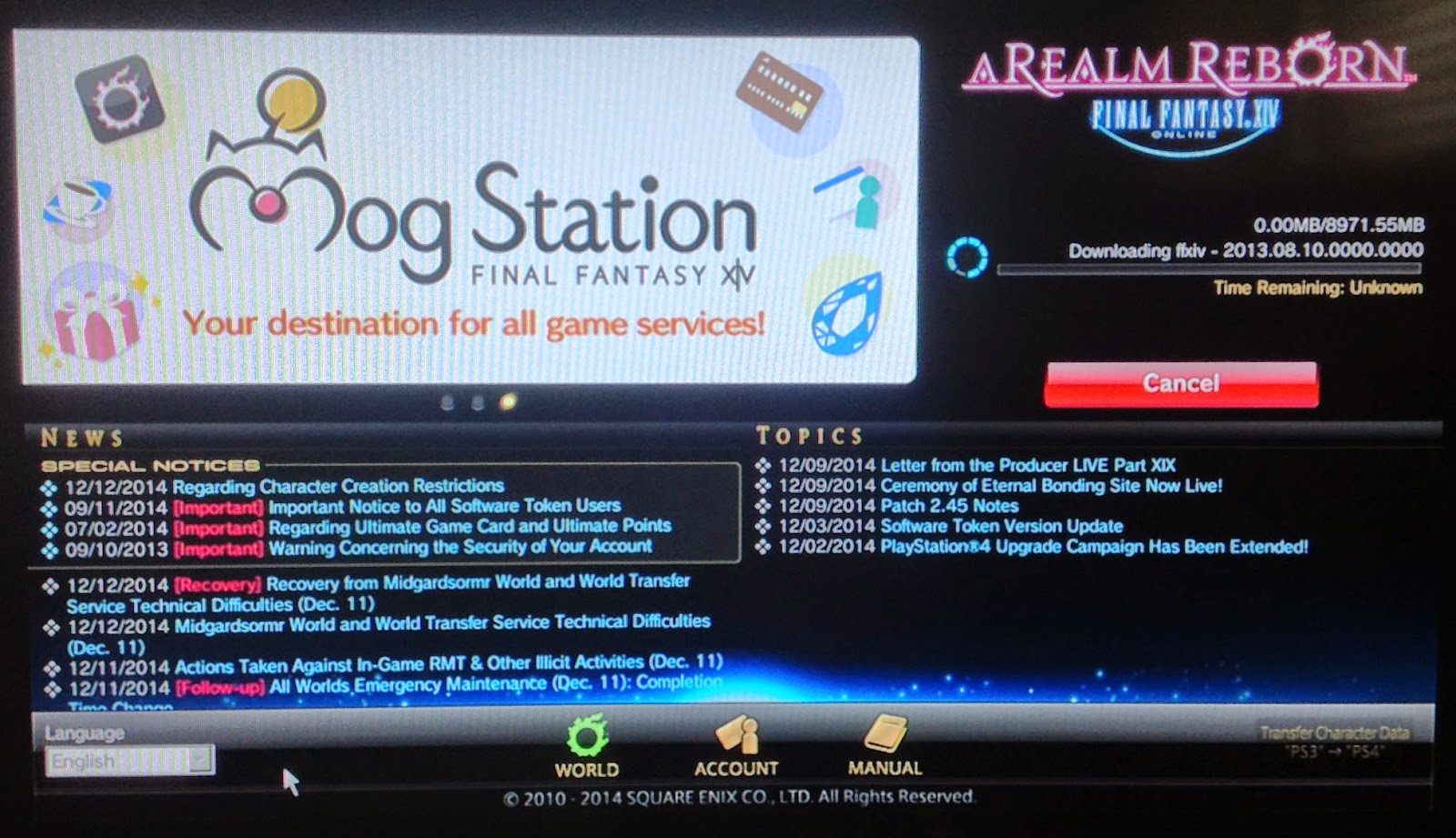 PSN World Deals: GUIDE: Registration tutorial for Final Fantasy XIV