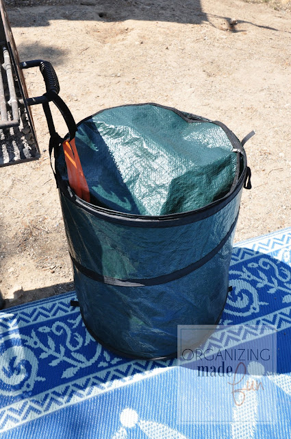 Pop up trash can for camping :: OrganizingMadeFun.com