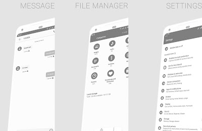 Huawei Themes : Android P Mono Grey Theme for EMUI 5 / 8