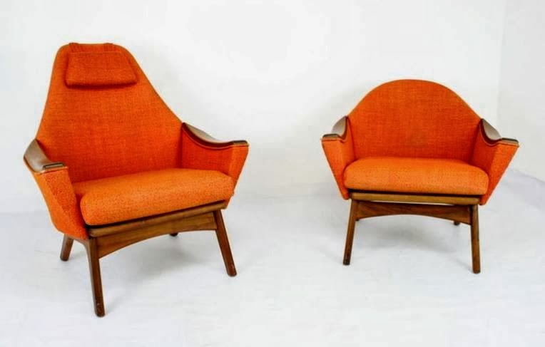 Adrian Pearsall Chair Eames Style Office Chairs Mid2mod In The Store We Just Got A Fantastic Pair Of His And Hers Lounge Designed By They Re Gorgeous Bright Orange Hop Sack Very Good Condition