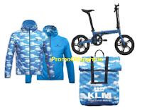 Logo KLM Way: vinci gratis 400 zaini, 2 e-bike e con acquisto anche 400 giacche a vento