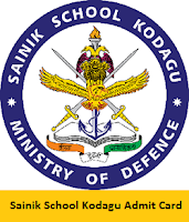 Sainik School Kodagu Admit Card