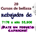 20 Cursos de belleza rebajados de 717€ a sólo 35,90€ ¡Dedicate tiempo a ti misma, sólo durante 7 días!