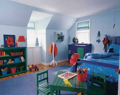 Blue Kids Bedroom Color