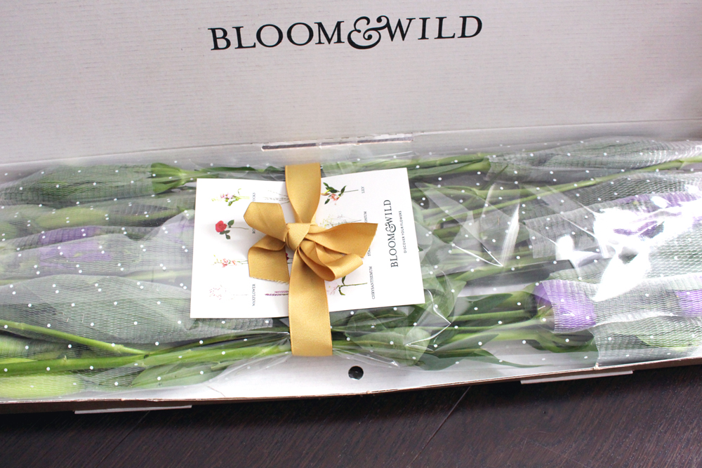 Bloom & Wild Sofia fresh flowers by post - letterbox bouquets - London lifestyle blog