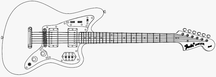 fender guitar coloring pages - photo#12