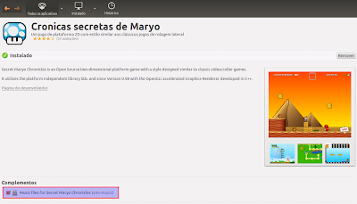 Maryo na Central de Programas do Ubuntu