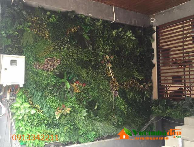 Thi Công tường cây giả - Đẹp như tường cây thật - 1