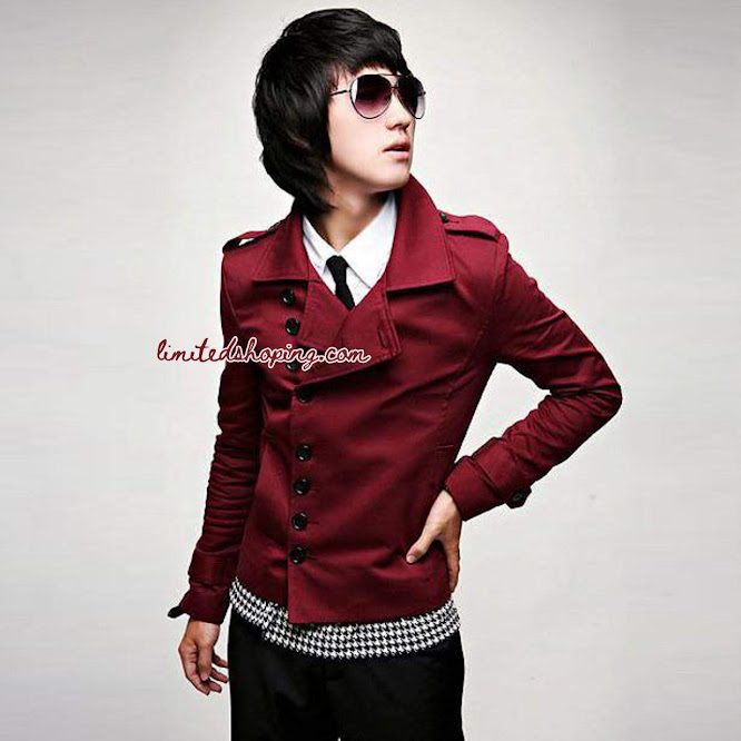 limited shoping sk22 jaket merah korean style