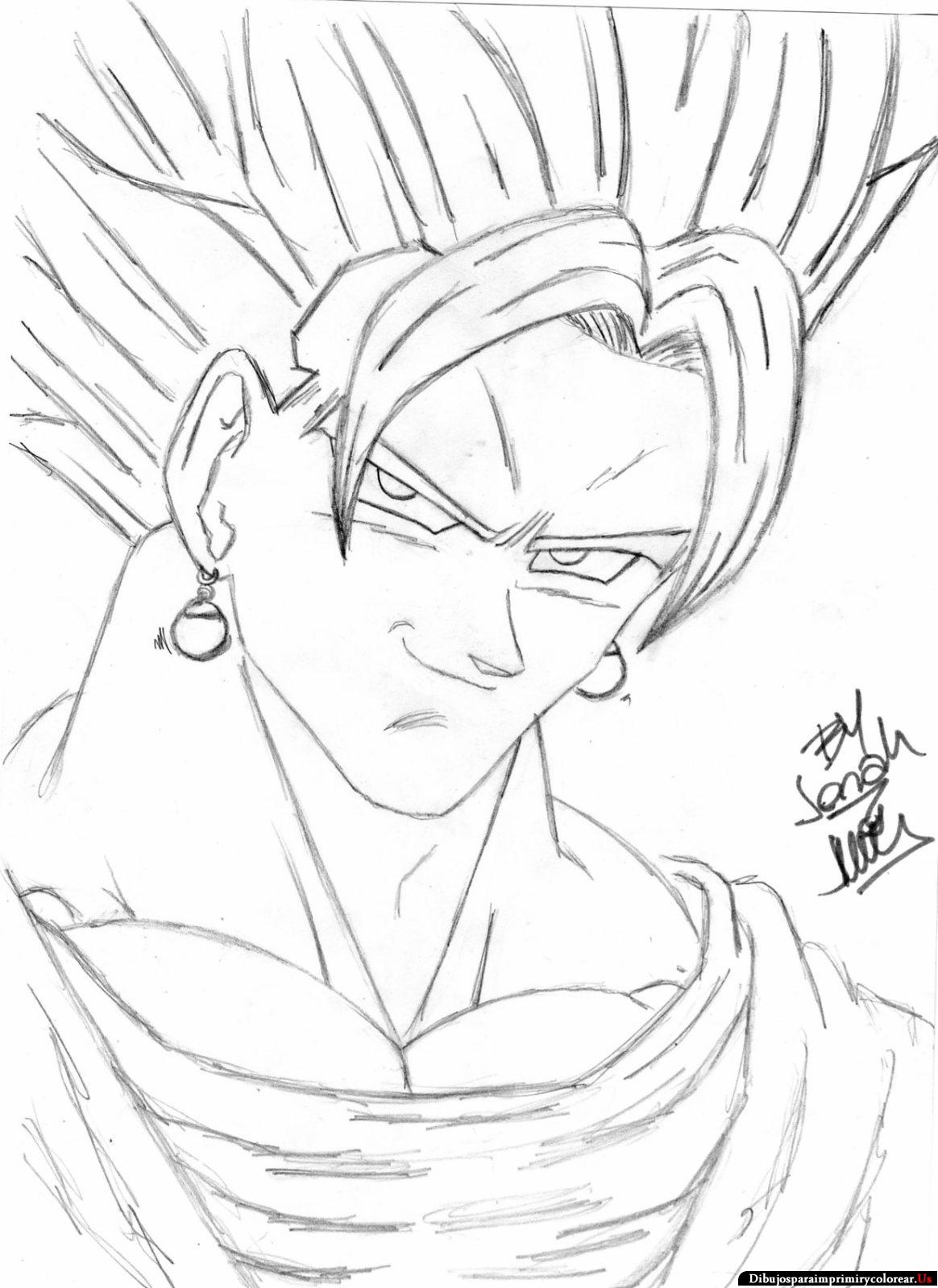 Dibujos De Dragon Ball Super Para Colorear Vegito