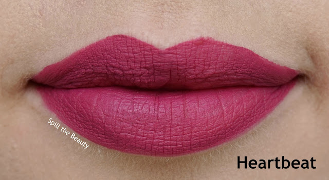 rimmel london stay matte liquid lip color review swatches 820 heartbeat