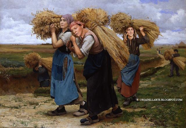 parodia del Fertility Day-Lorenzin-Boschi-Madia-Le raccoglitrici di grano