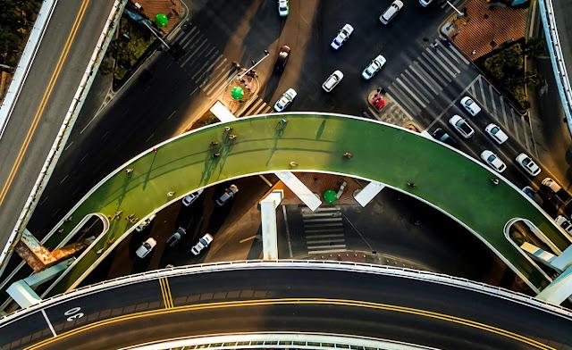 Di Negara Cina! Membuat Jalan Layang Khusus Masyarakat Yang BerSepeda