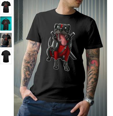 Pitpool Pitbull Deadpool T Shirt Hoodie