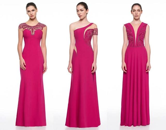 vestido de festa rosa madrinha ou formanda