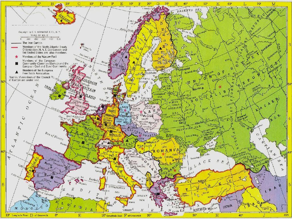 Europe Map 1960 | Usa Map 2018