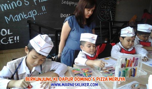 Domino's pizza Meruya Jakarta, berkunjung ke dapur domino's pizza