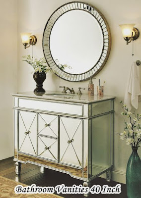 Bathroom Vanities 40 Inch wih circle mirror