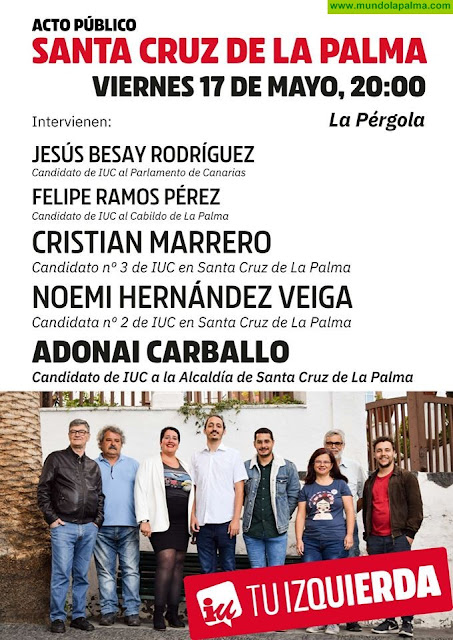 Acto público de IUC en Santa Cruz de La Palma