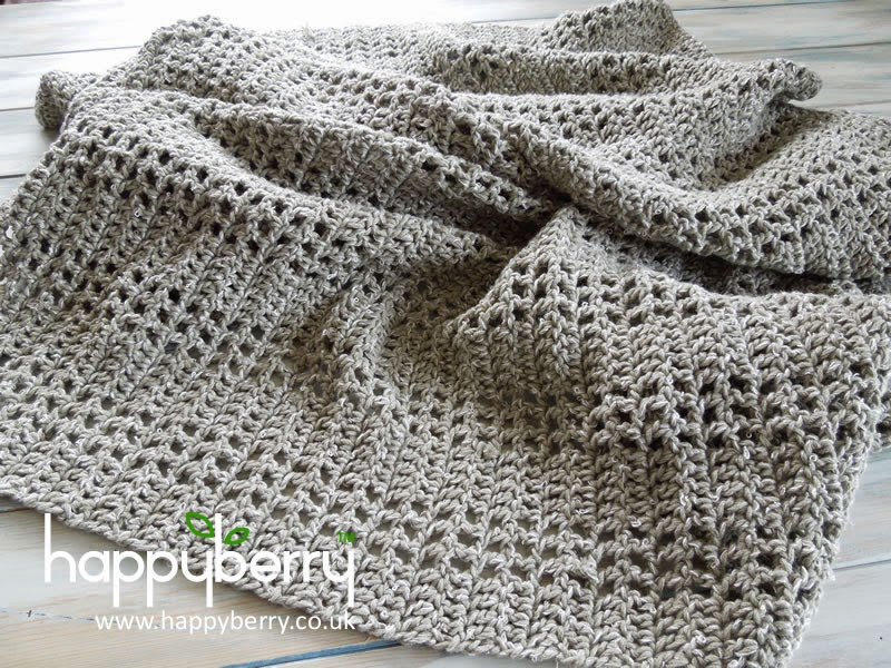 Happy Berry Crochet How To Crochet An Afghan Or Baby Blanket With A