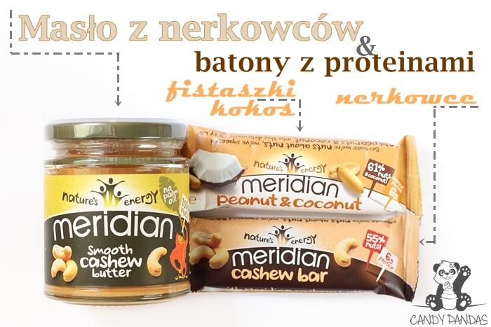 Batony z proteinami i masło z nerkowców - Meridian