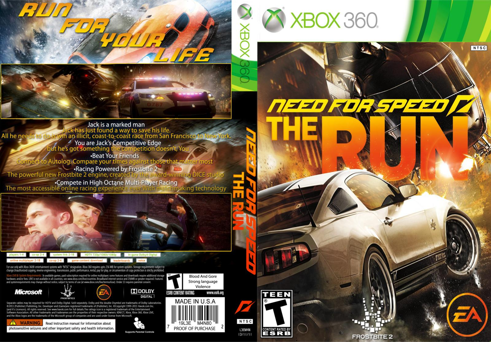 RGH360LTU: XBOX 360 NEED FOR SPEED THE RUN