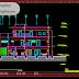 مخطط مشروع مركز تشخيص الامراض اوتوكاد dwg