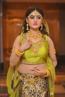 Sony Charishta in Green Choli Ghagra Transparent Chunni Ethnic Wear March 2017 044.JPG