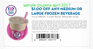 free Baskin Robbins coupons april 2017
