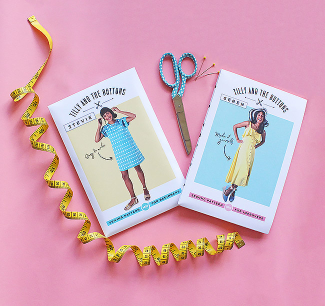 Stevie and Seren sewing pattern by Tilly and the Buttons