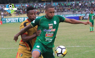 PSMS Medan vs Mitra Kukar 1-3