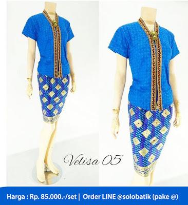 Rok dan Blouse Batik Velisa05 biru