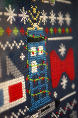 Doctor Who Christmas cross stitch
