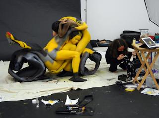 Pengecatan Tubuh untuk Kreasi Seni Sepeda Motor