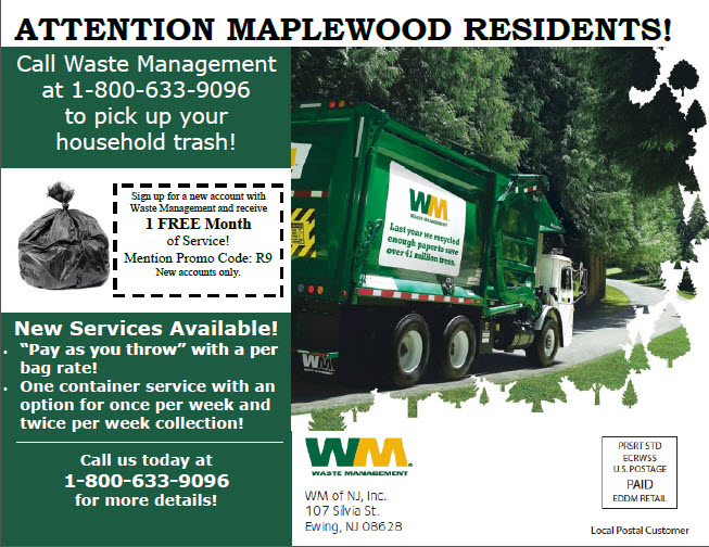 Maplewood Electronics and Other Recycling Schedule and Information