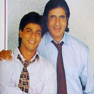 bollywood king shahrukh khan and amitabh
