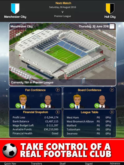 Club Soccer Director 2018 Club Football Manager Hack Apk