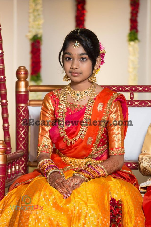 Director Maruthi Daughter Oni Ceremony Jewellery Designs