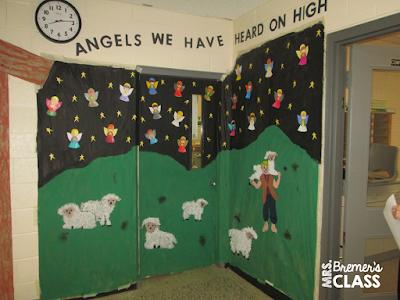 A tour of Christmas classroom door decorations around my school!