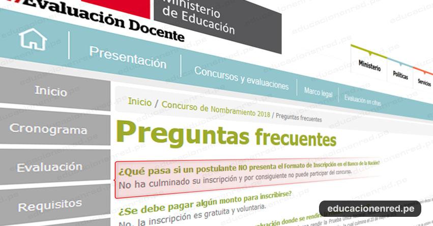 NOMBRAMIENTO DOCENTE: ¿Qué pasa si un postulante NO PRESENTÓ el Formato de Inscripción en el Banco de la Nación? www.minedu.gob.pe