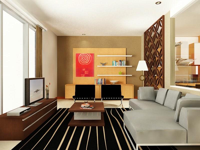 interior ruang keluarga nyaman