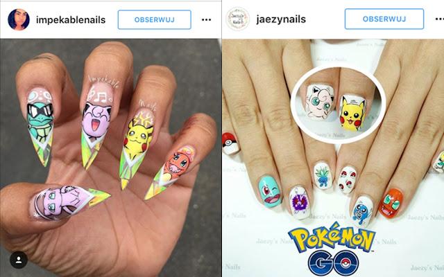 pokemony na paznokciach zdjęcia