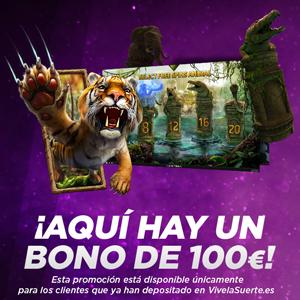 Vivelasuerte bono de 100 euros 6-8 diciembre